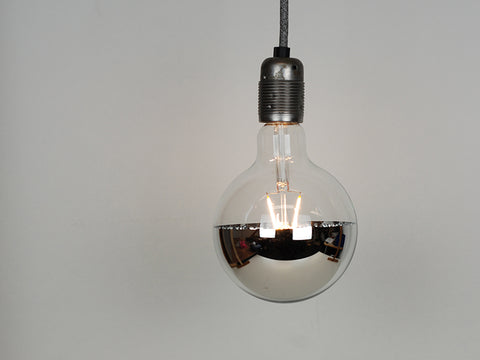 LED Vintage Filament Bulb | Mirrored G125 | Squirrel Cage - Vendimia Lighting Co.