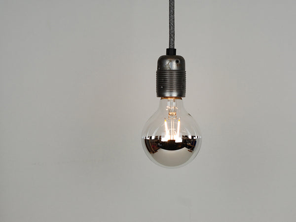 LED Vintage Filament Bulb | Mirrored G80 | Squirrel Cage - Vendimia Lighting Co.
