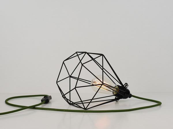 Desk Lamp | Diamond Cage | Jet Black