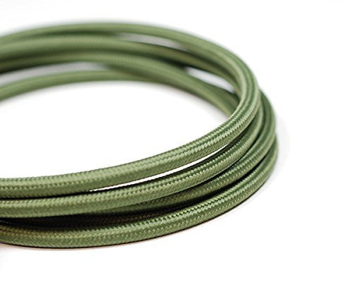 Fabric Cable | Round | Khaki Green - Vendimia Lighting Co.