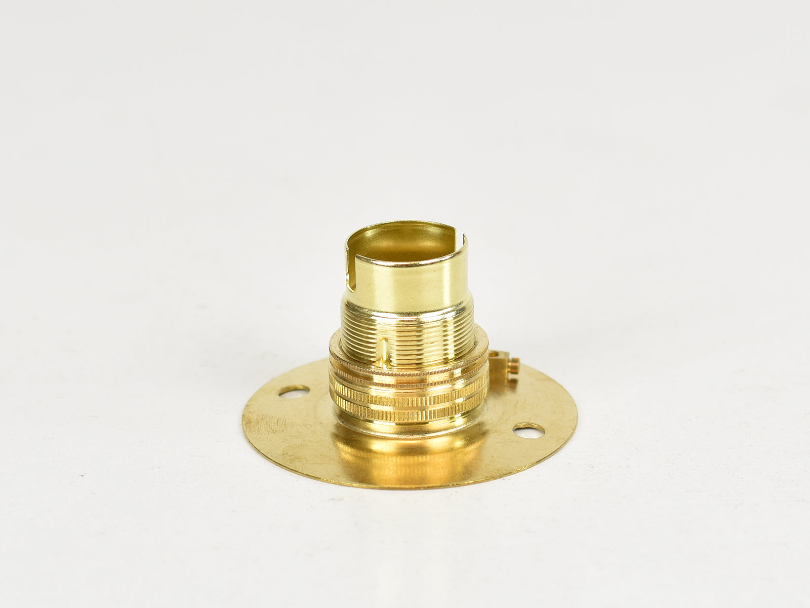 B22 Brass Bulb Holder | Batten Lamp Fitting | Threaded Brass - Vendimia Lighting Co.