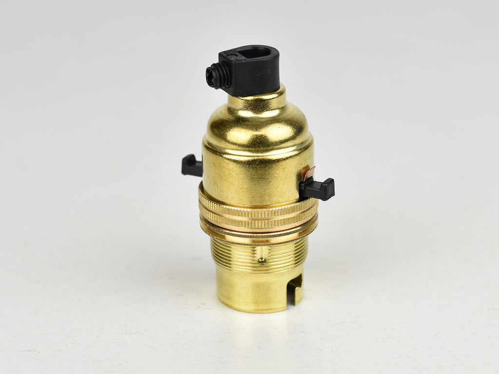 B22 Brass Bulb Holder | Switched | Brass - Vendimia Lighting Co.