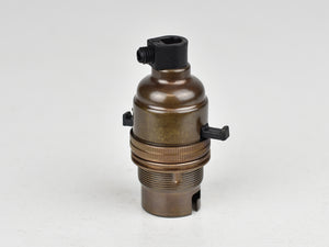 B22 Brass Bulb Holder | Switched | Old English Brass - Vendimia Lighting Co.