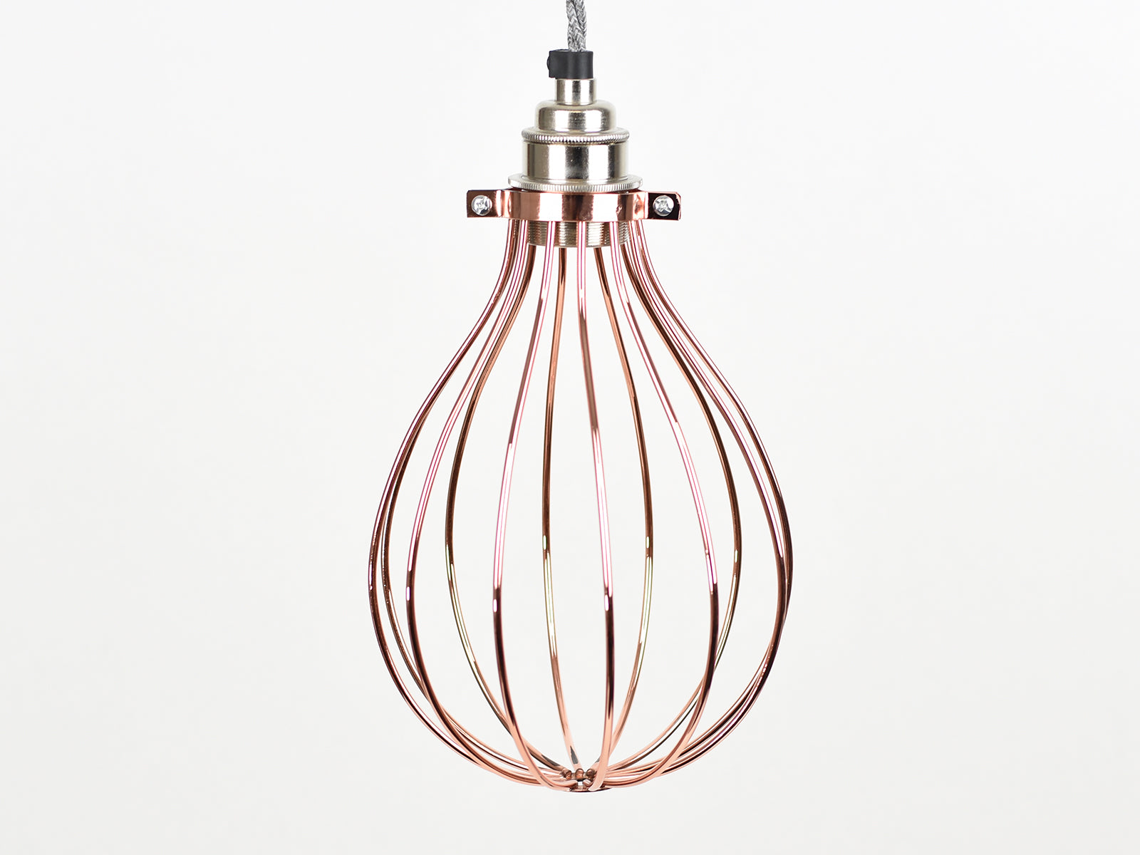 Cage Shade | Balloon | Polished Copper - Vendimia Lighting Co.
