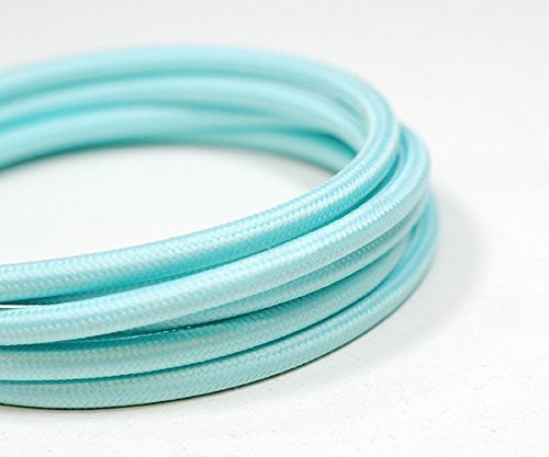 Round Fabric Cable | Clearwater Blue - Vendimia Lighting Co.