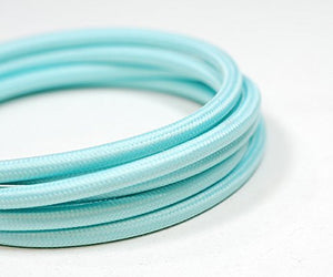 Fabric Cable | Round | Cool Blue - Vendimia Lighting Co.