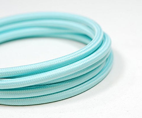 Fabric Cable | Round | Clearwater Blue - Vendimia Lighting Co.