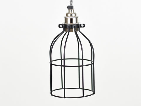 Cage Shade | Bird Cage | Jet Black - Vendimia Lighting Co.