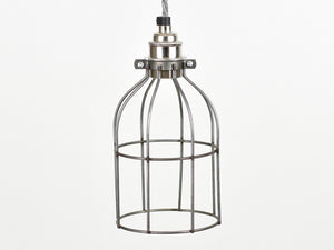 Cage Shade | Bird Cage | Raw Steel - Vendimia Lighting Co.