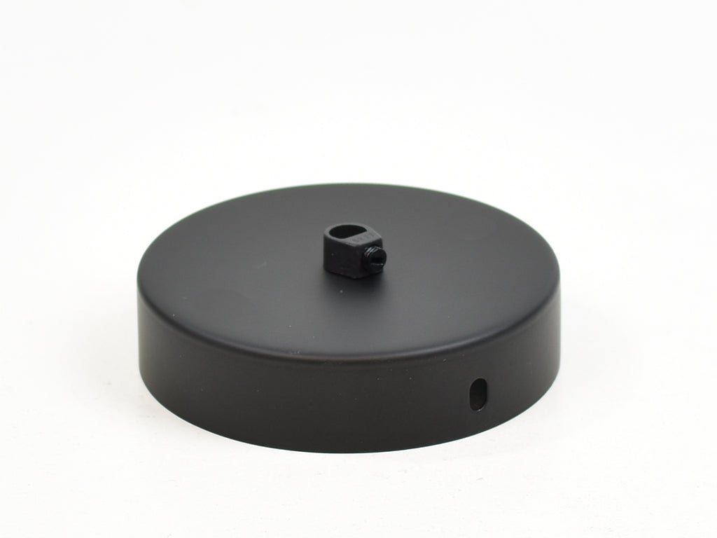 Steel Ceiling Rose | Single Outlet | Jet Black - Vendimia Lighting Co.