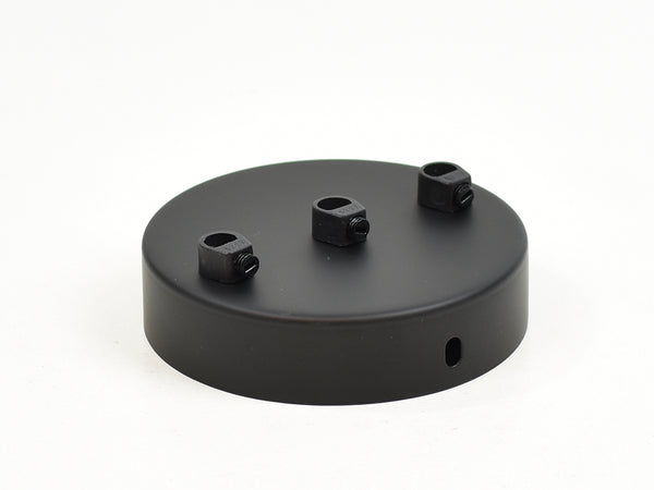 Steel Ceiling Rose | Multi Outlet | Jet Black - Vendimia Lighting Co.