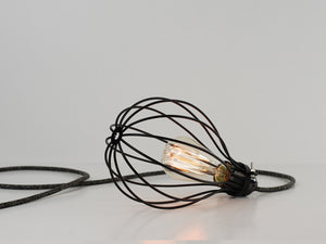 Desk Lamp | Premium Balloon Cage | Jet Black - Vendimia Lighting Co.