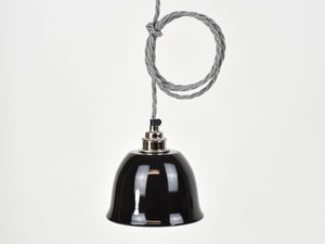 Ceiling Light | Bell Enamel Shade | Jet Black - Vendimia Lighting Co.