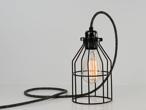 Desk Lamp | Premium Bird Cage | Jet Black - Vendimia Lighting Co.