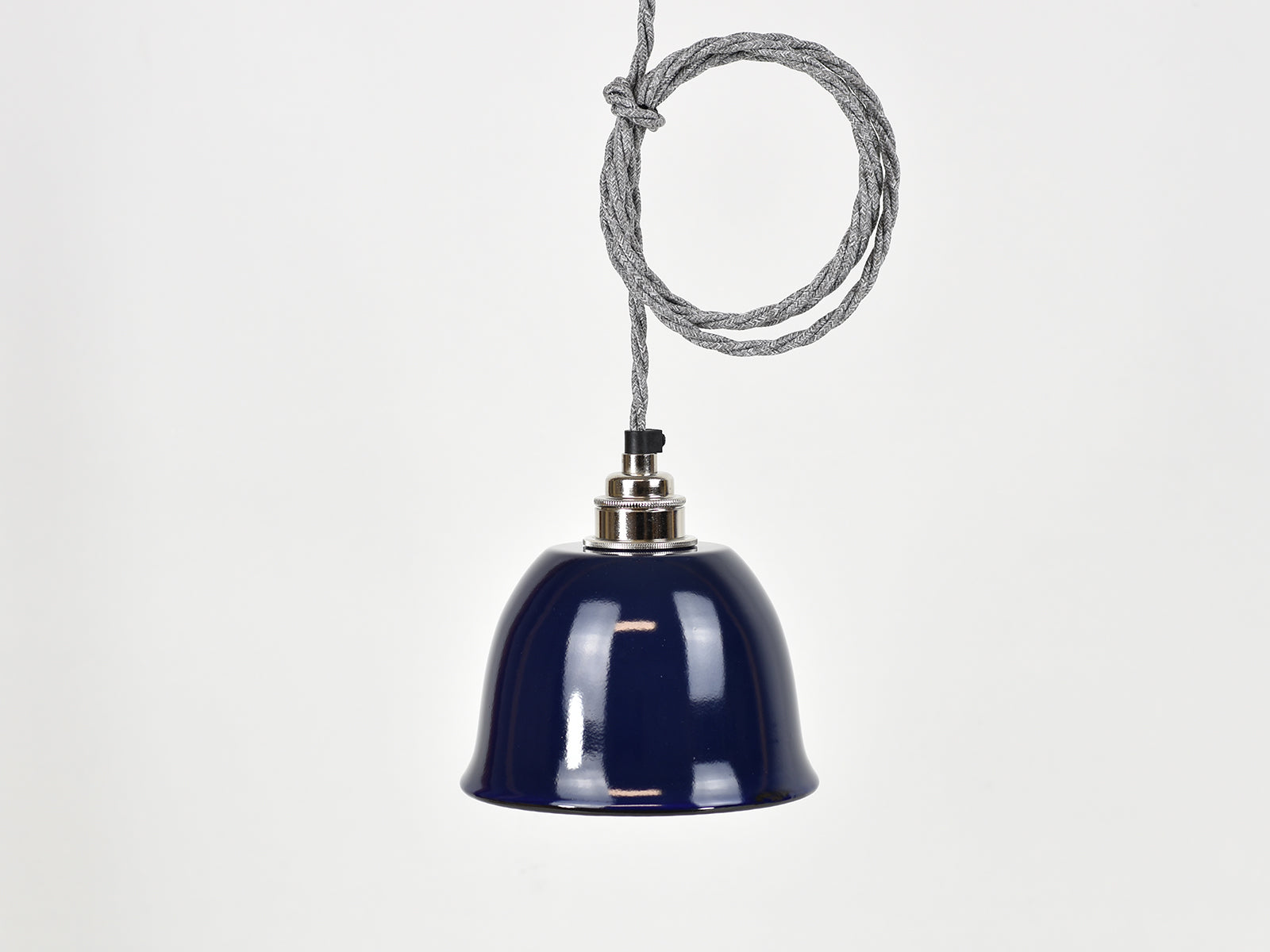 Ceiling Light | Bell Enamel Shade | True Blue - Vendimia Lighting Co.