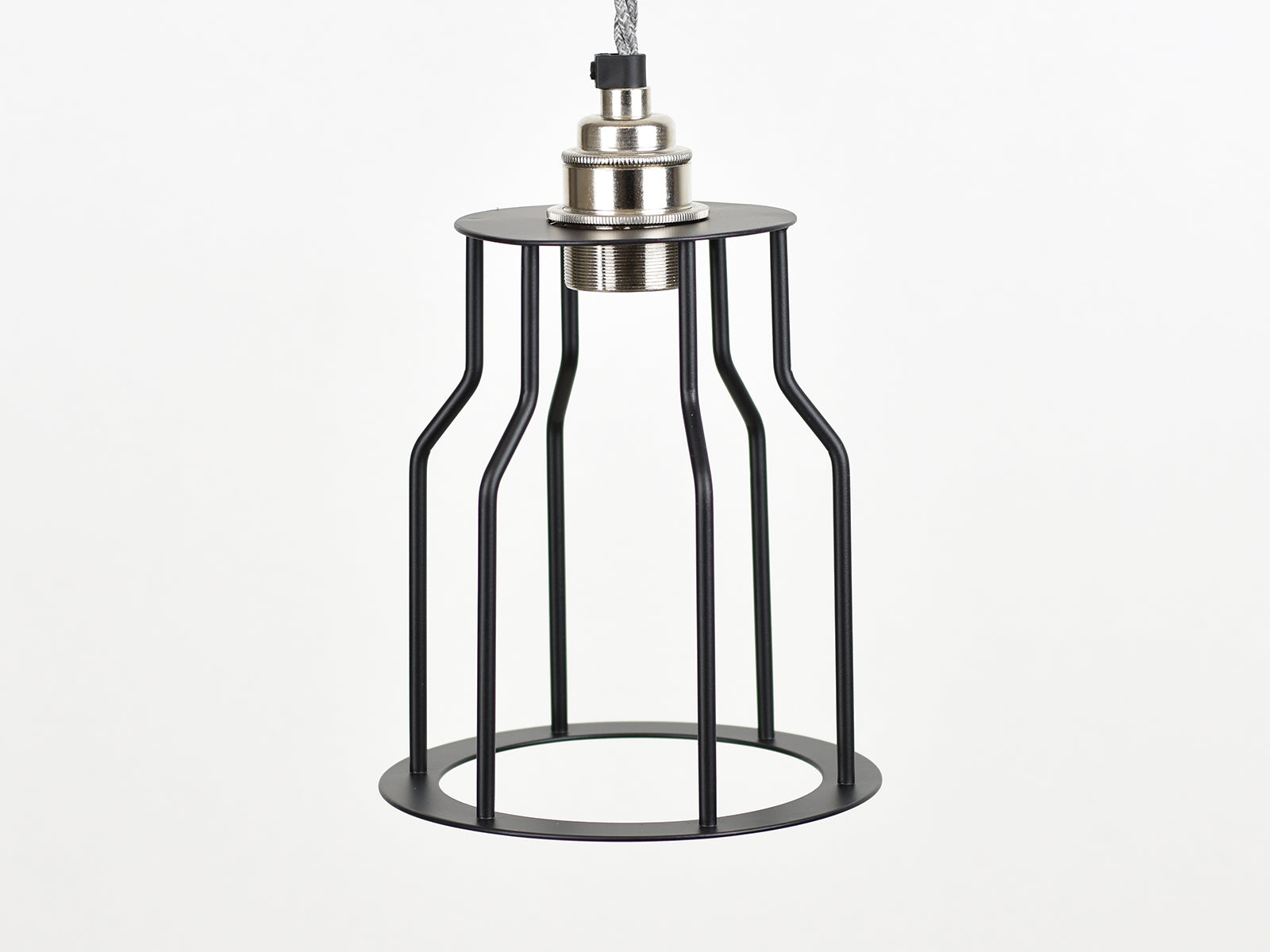 Cage Shade | Bottleneck | Jet Black - Vendimia Lighting Co.
