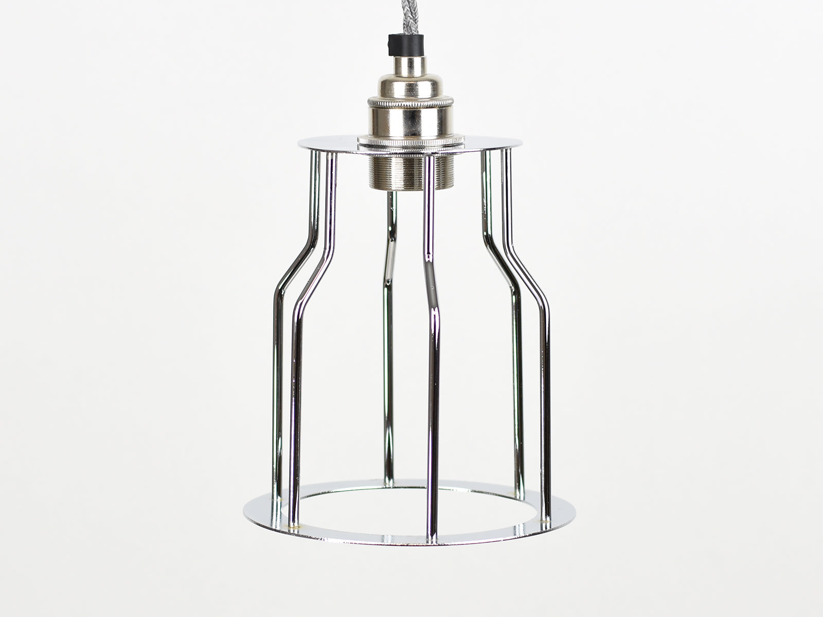 Cage Shade | Bottleneck | Polished Silver - Vendimia Lighting Co.