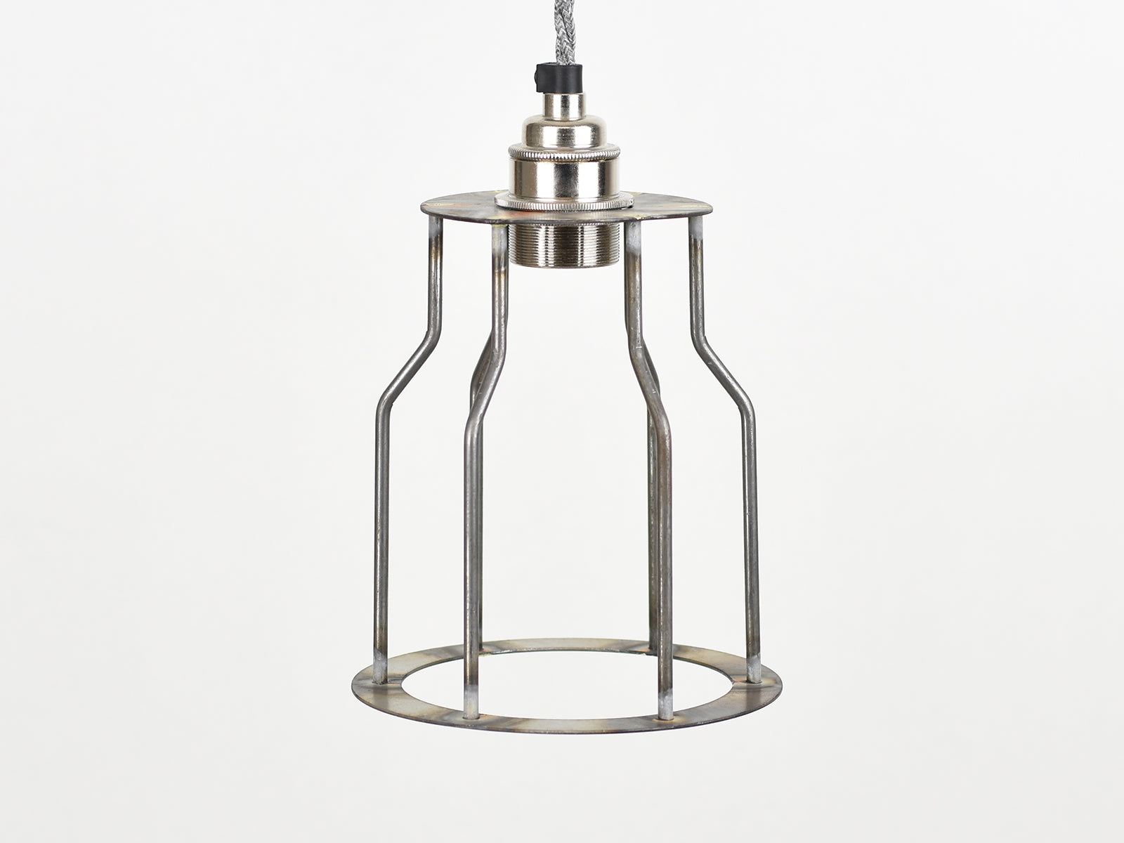 Cage Shade | Bottleneck | Raw Steel - Vendimia Lighting Co.