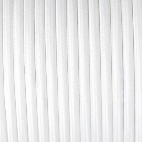 Fabric Cable | Round | Brilliant White - Vendimia Lighting Co.