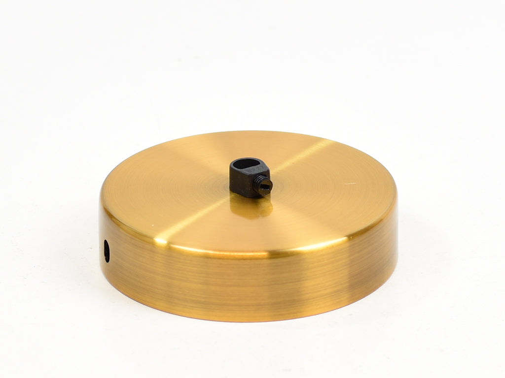 Steel Ceiling Rose | Single Outlet | Bronze Satin - Vendimia Lighting Co.