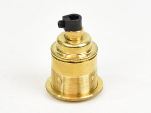 Brass Bulb Holder | Threaded Skirt | Brass - Vendimia Lighting Co.