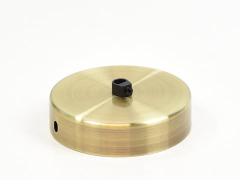 Steel Ceiling Rose | Single Outlet | Brass Satin - Vendimia Lighting Co.