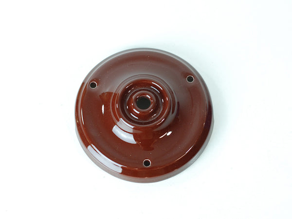 Porcelain Ceiling Rose | Chocolate Brown - Vendimia Lighting Co.