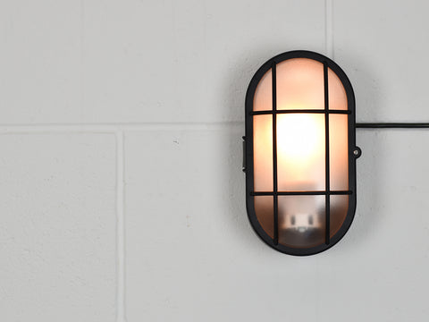 Wall Light | Oval Bulkhead | Jet Black - Vendimia Lighting Co.