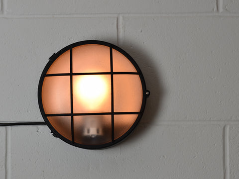 Wall Light | Round Bulkhead | Jet Black - Vendimia Lighting Co.