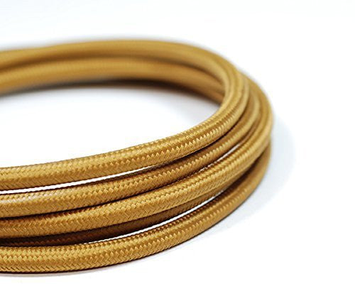Fabric Cable | Round | Golden Brown - Vendimia Lighting Co.