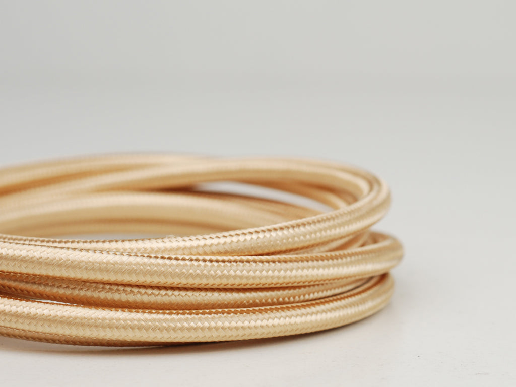 Fabric Cable | Round | Honey Gold - Vendimia Lighting Co.