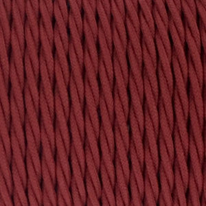 Fabric Cable | Twisted | Maroon - Vendimia Lighting Co.