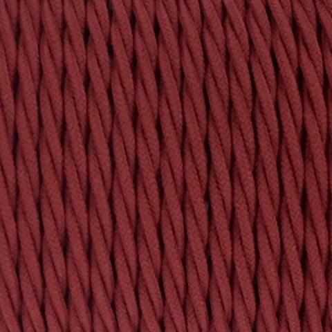 Fabric Cable | Twisted | Rhubarb Red - Vendimia Lighting Co.