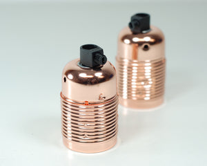 Steel Bulb Holder | Polished Copper - Vendimia Lighting Co.