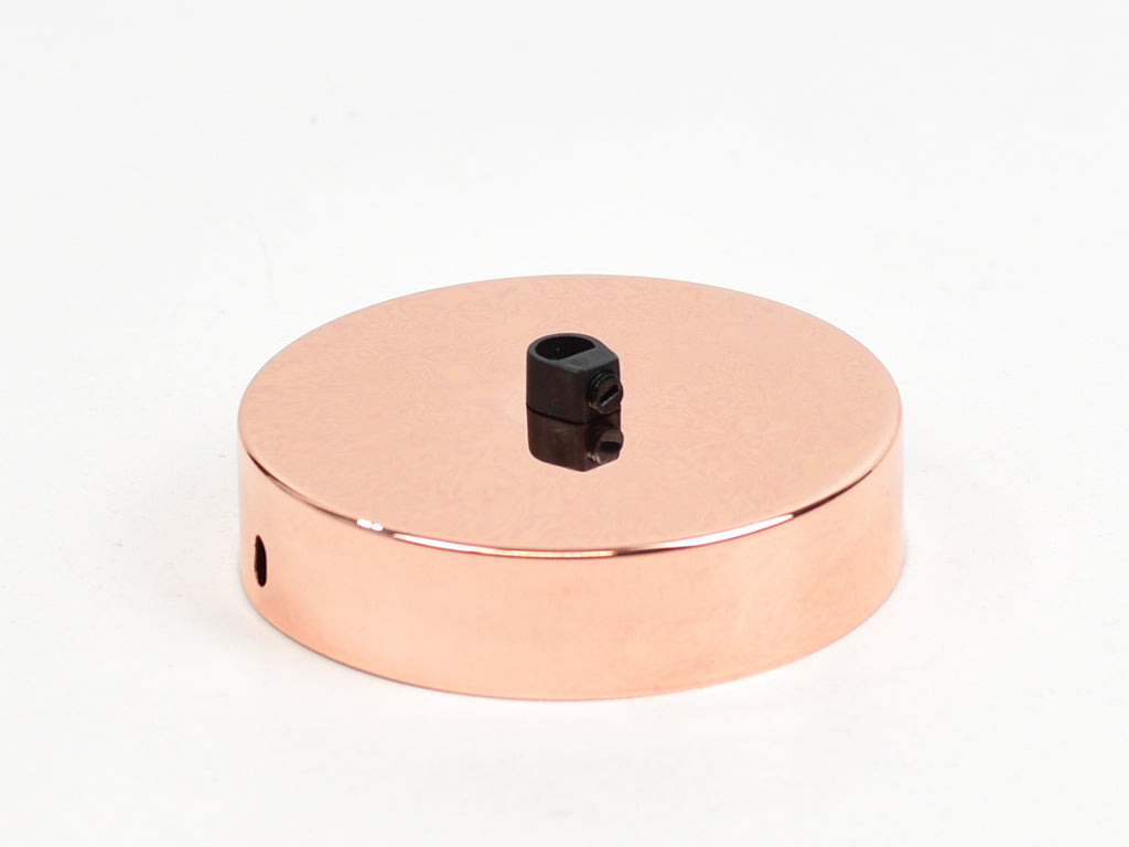 Steel Ceiling Rose | Single Outlet | Polished Copper - Vendimia Lighting Co.