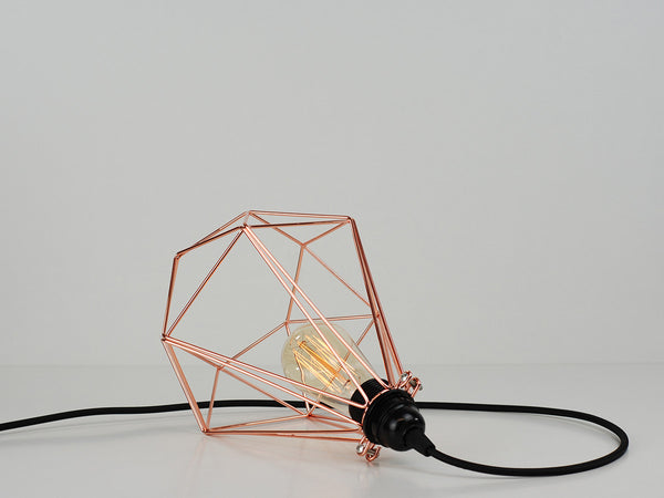 Desk Lamp | Diamond Cage | Copper Chrome