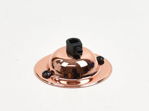 Steel Ceiling Rose | Dome | Polished Copper - Vendimia Lighting Co.