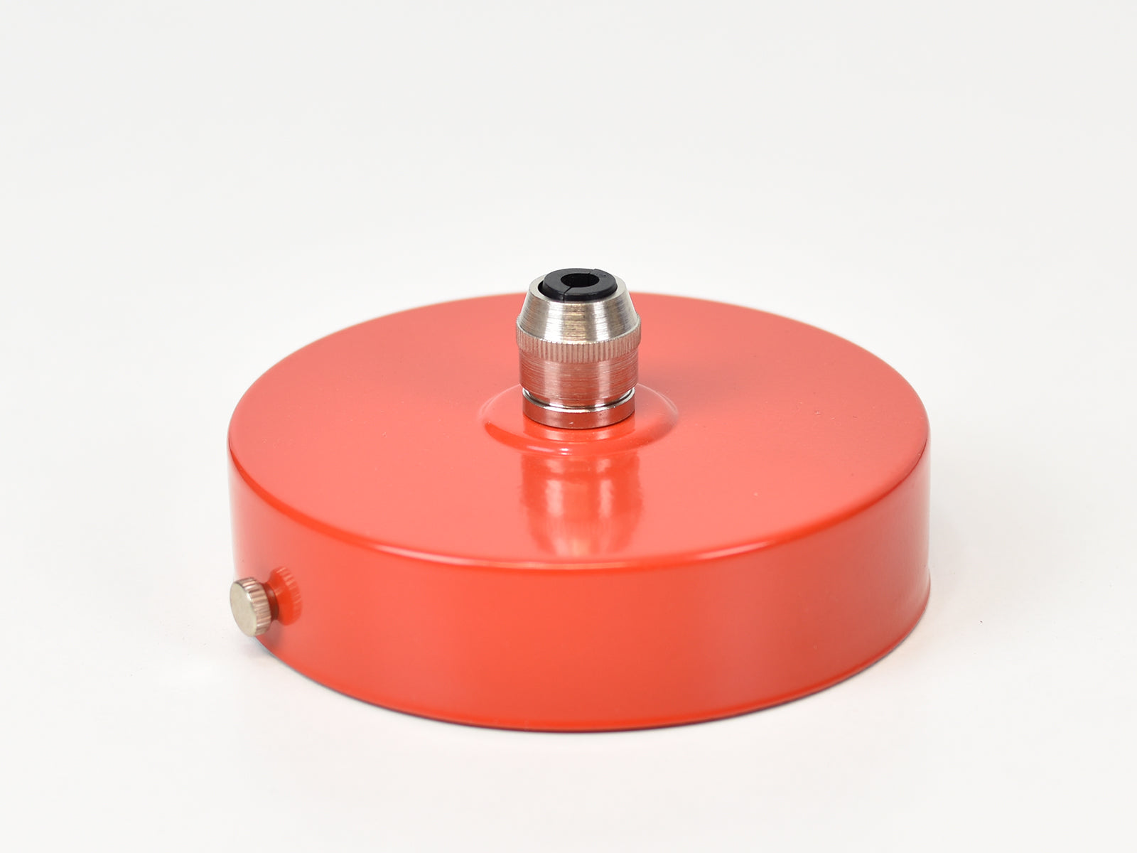 Steel Ceiling Rose | Single Outlet | Bright Red - Vendimia Lighting Co.