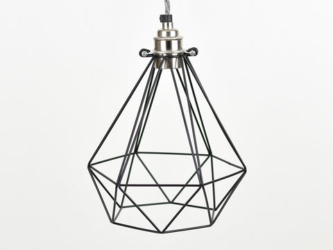 Cage Shade | Diamond | Jet Black - Vendimia Lighting Co.