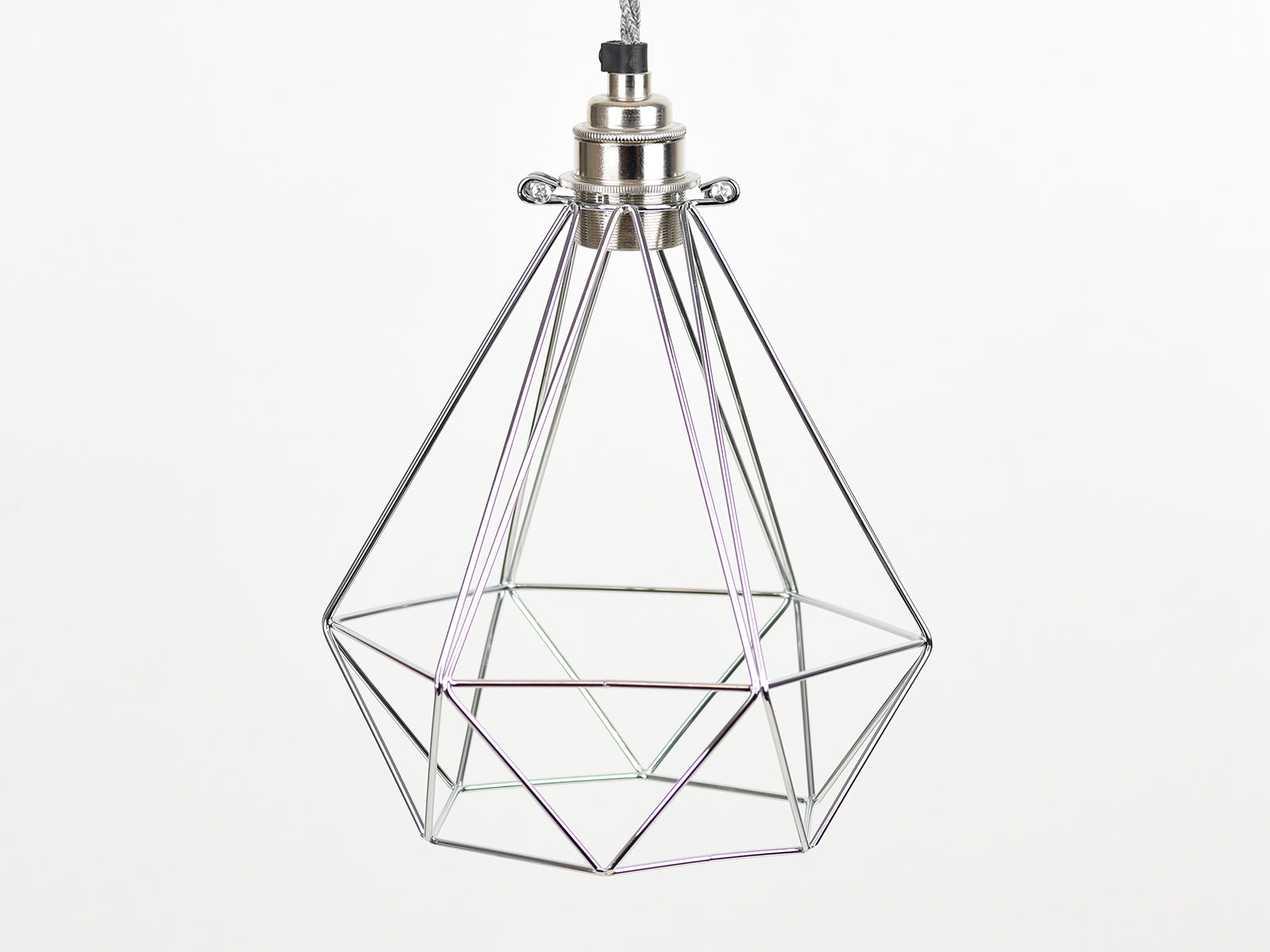Cage Shade | Diamond | Polished Silver - Vendimia Lighting Co.