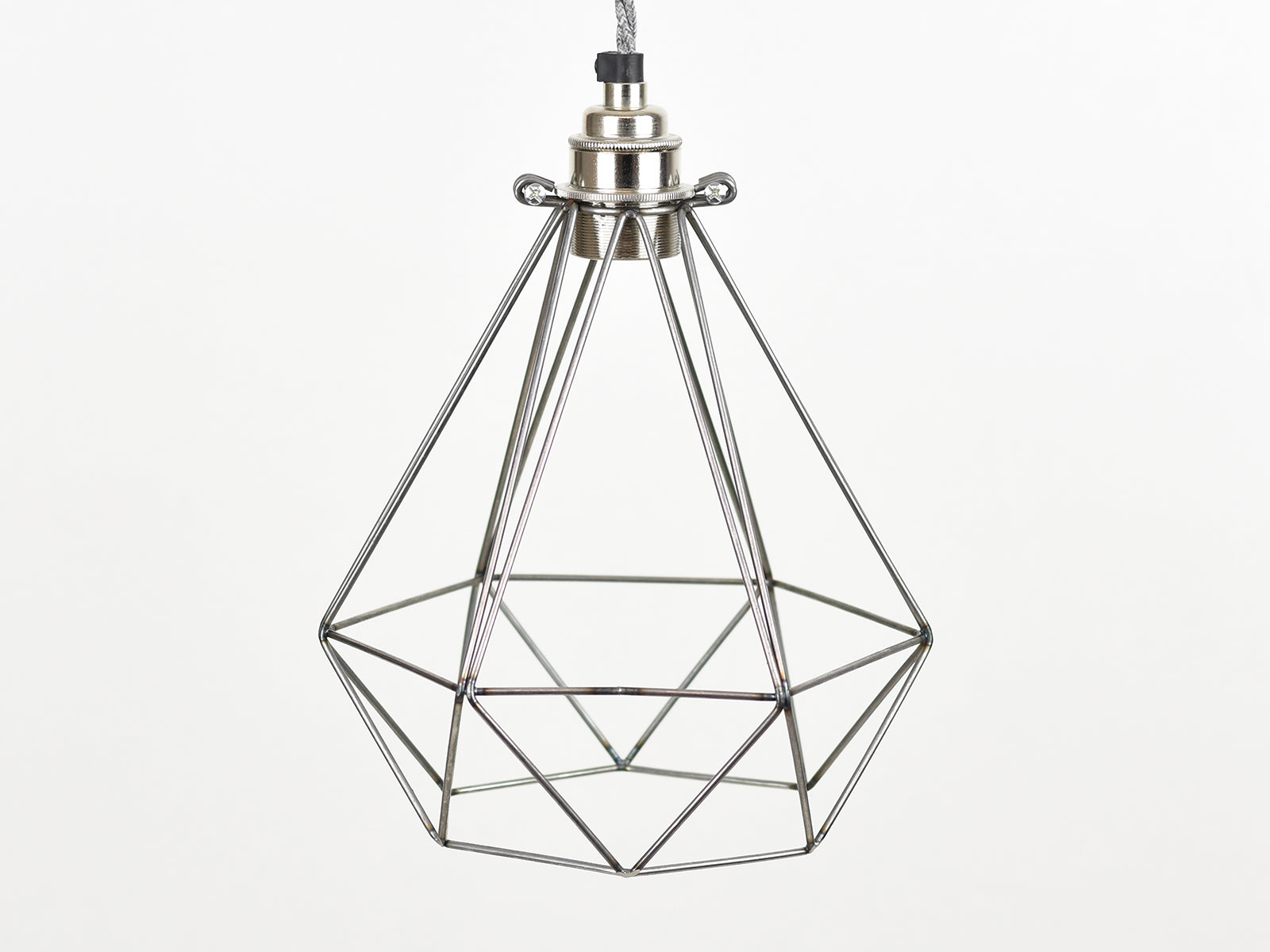 Cage Shade | Diamond | Raw Steel - Vendimia Lighting Co.