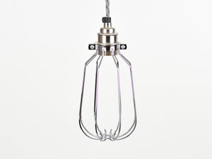 Cage Shade | Drop | Polished Silver - Vendimia Lighting Co.