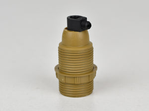 E14 Bakelite Bulb Holder | Threaded | Dull Gold - Vendimia Lighting Co.
