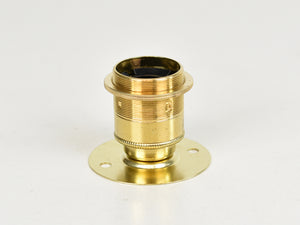E27 ES Brass Bulb Holder | Batten Lamp Fitting | Threaded Brass - Vendimia Lighting Co.