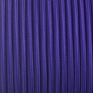 Fabric Cable | Round | Imperial Purple - Vendimia Lighting Co.