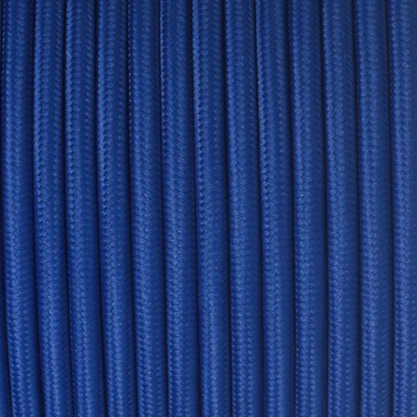 Fabric Cable | Round | Royal Blue - Vendimia Lighting Co.
