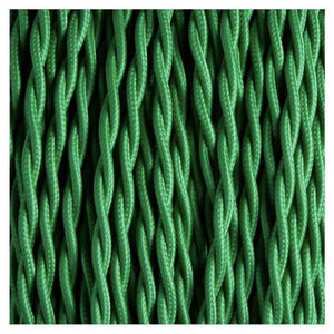 Fabric Cable | Twisted | Fern Green - Vendimia Lighting Co.