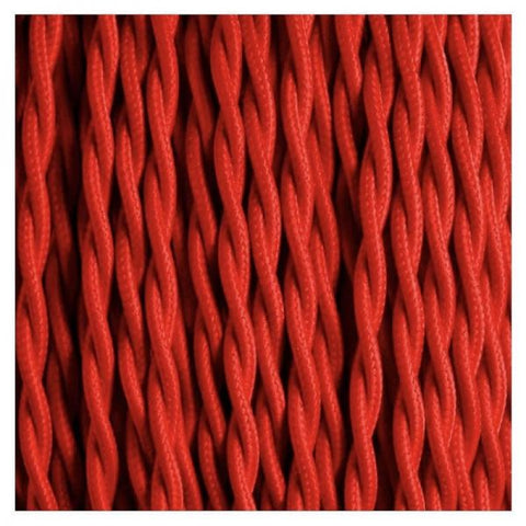Fabric Cable | Twisted | Cherry Red - Vendimia Lighting Co.