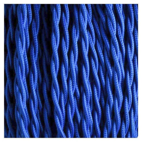 Fabric Cable | Twisted | Royal Blue - Vendimia Lighting Co.
