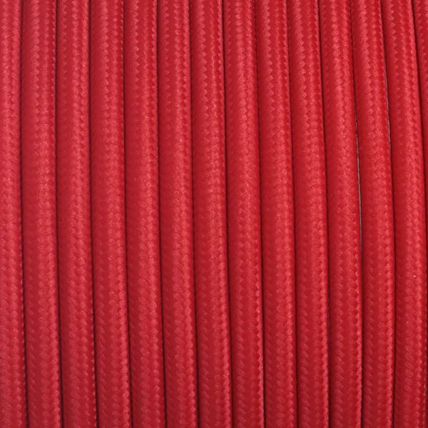Fabric Cable | Round | Cherry Red - Vendimia Lighting Co.